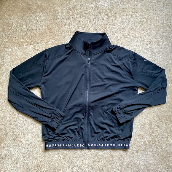 Black Under Armour Collared Track Jacket